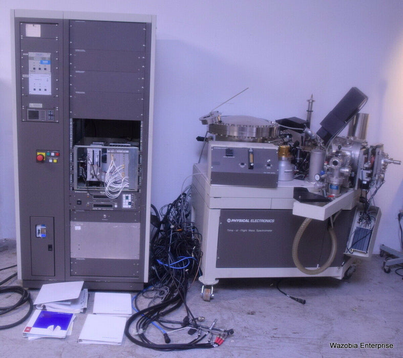 PHYSICAL ELECTRONICS TIME OF FLIGHT MASS SPECTROMETER MODEL 20-900 11-770 16-700