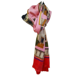 Bright and Beautiful Karl Lagerfeld Silk Shawl - Gem de la Gem