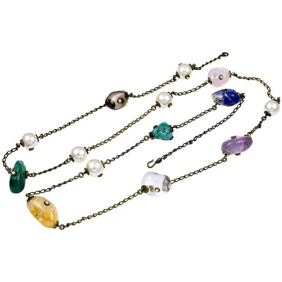 Chanel Semi-Precious Stone Long Necklace - Gem de la Gem