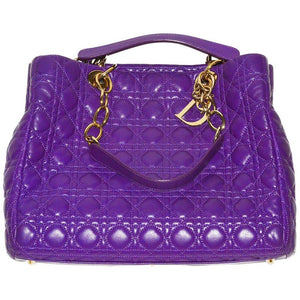 Chic, Gorgeous Purple Dior Quilted Shoulder Bag/Tote - Gem de la Gem