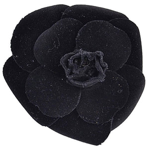 Classic Chanel Large Velvet Flower Brooch - Gem de la Gem
