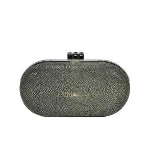 Classic Judith Leiber Black Stingray Clutch - Gem de la Gem