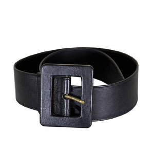 Classic YSL Laurent Wide Leather Belt 36 - Gem de la Gem