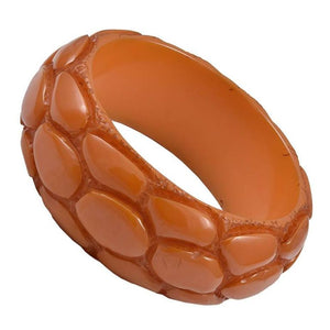 Vintage Bakelite Alligator Print Bangle Bracelet - Gem de la Gem