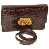 Darby Scott Alligator and Stone Bag - Gem de la Gem
