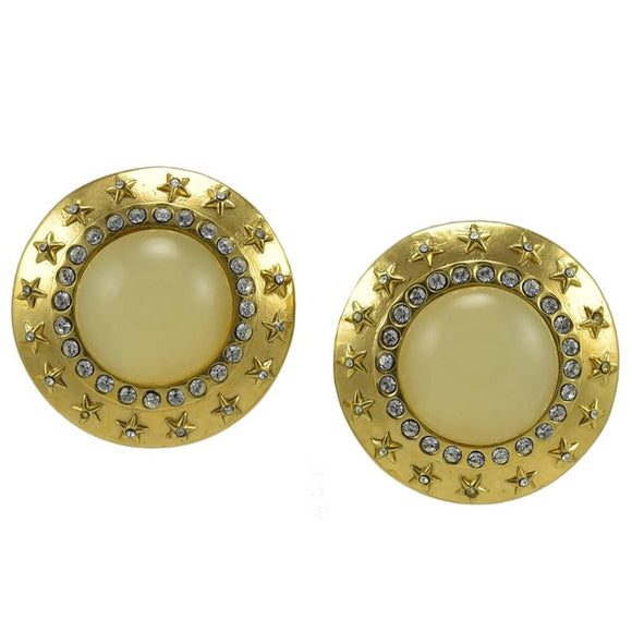 Fabulous Large Chanel Clip Earrings - Gem de la Gem