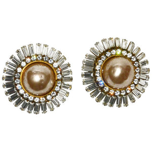 Fabulous Vintage Runway Chanel Ear Clips - Gem de la Gem