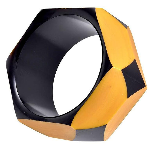 Geometric Bakelite Bangle Bracelet - Gem de la Gem