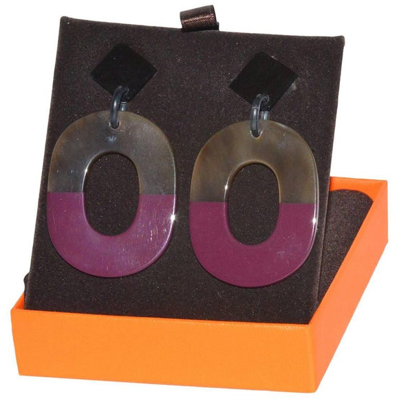 Hermes Horn and Lacquer Earrings - Gem de la Gem