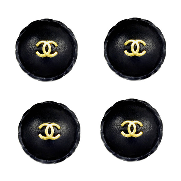 Huge Rare Chanel Leather Buttons - Gem de la Gem
