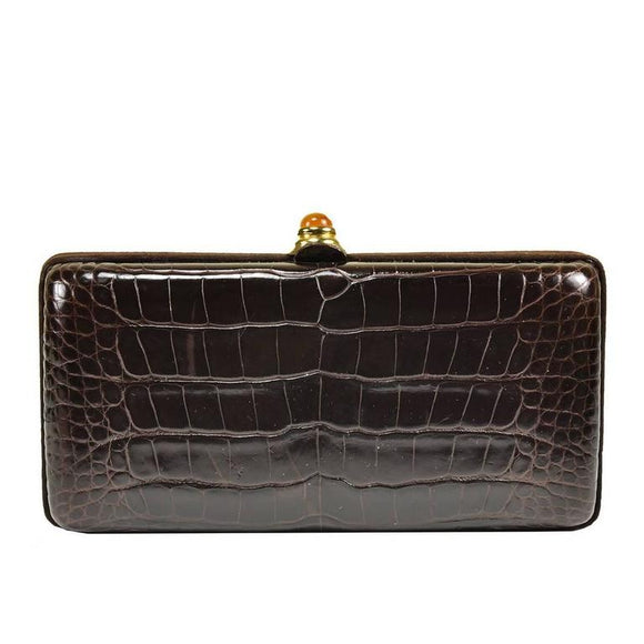 Iconic Oscar de la Renta Alligator clutch - Gem de la Gem