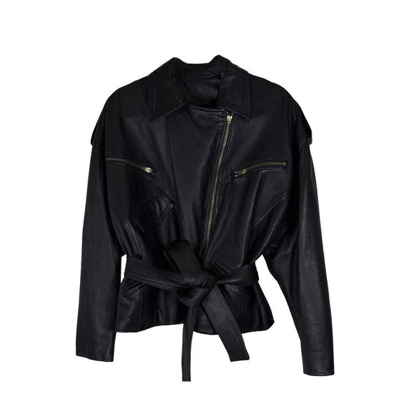 Iconic Vintage Donna Karan Leather Jacket - Gem de la Gem
