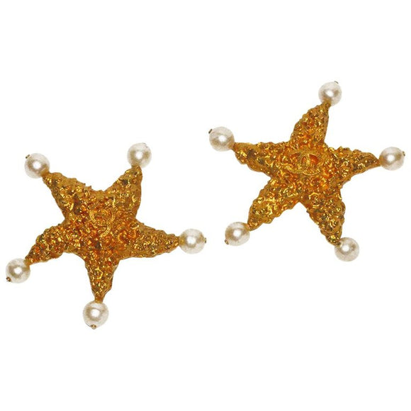 Massive Chanel Runway Starfish Ear Clips - Gem de la Gem