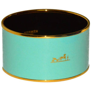 Pop of Color! Hermes Enamel Wide Bangle - Gem de la Gem