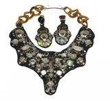 Prada Beaded and Crystal Handmade Neckpiece - Gem de la Gem
