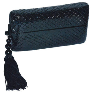 Raphael Sanchez Black Lacquer Box Clutch Bag - Gem de la Gem