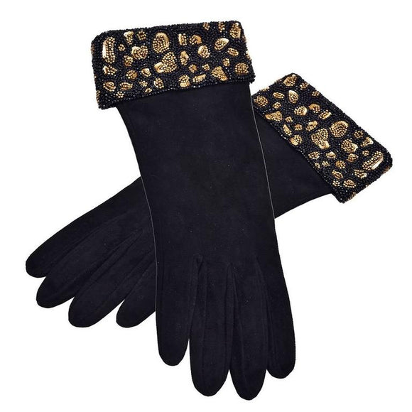 Rare and Gorgeous Valentino Suede and Beaded Gloves - Gem de la Gem