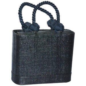 Renaud Pellegrino Black Straw Top Handle Bag - Gem de la Gem