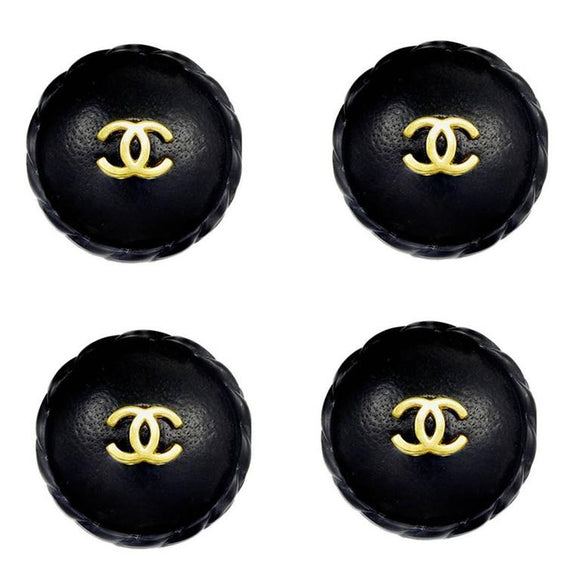 Unusual Chanel Leather Covered Buttons - Gem de la Gem