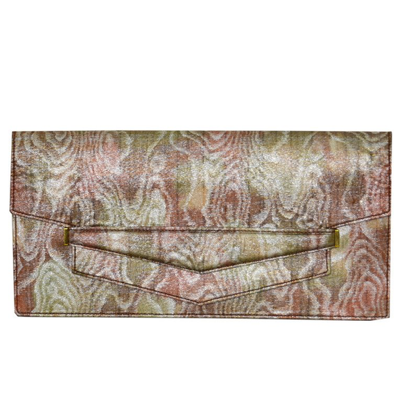 Fabulous Hermes Moiree and Leather Clutch Bag - Gem de la Gem