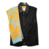 Fabulous MCM Microfiber, Leather and Silk Vest with Matching Scarf - Gem de la Gem