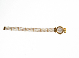 Van Cleef & Arpels Yellow Gold Pearl Bracelet Quartz Wristwatch - Gem de la Gem