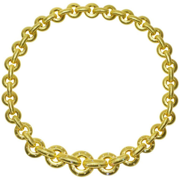 Chic Paul Morelli Gold and Diamond Necklace - Gem de la Gem