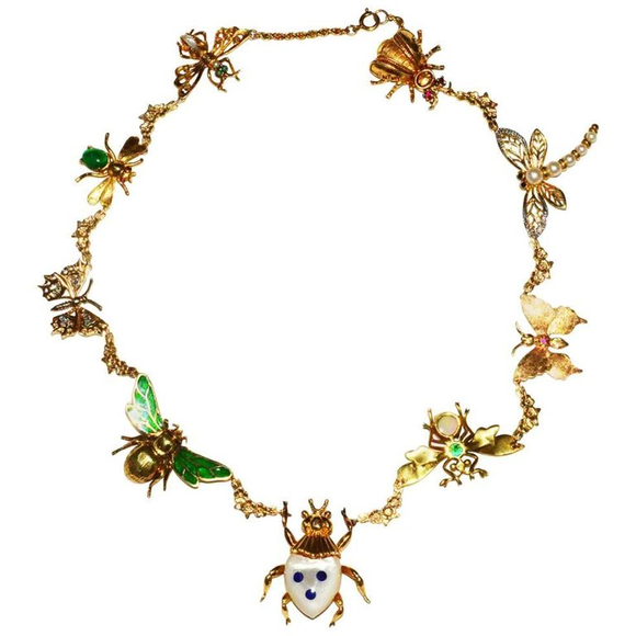 Charming One of a Kind Insect Necklace - Gem de la Gem