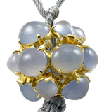 Outstanding Virginia Witbeck Chalcedony Diamond Gold Ball Necklace - Gem de la Gem