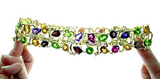 Chanel Multi Gem Gold Choker necklace - Gem de la Gem