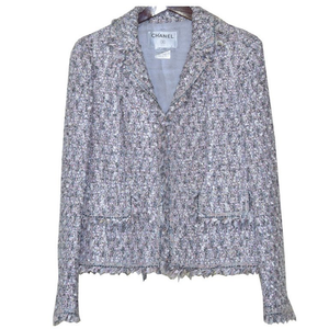 Iconic Chanel Boucle Suit with Matching Shawl. - Gem de la Gem