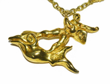 Amazing Salvador Dali Gold Jonah and the Whale Pendant - Gem de la Gem