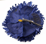 Chanel Blue Staw Flower Brooch - Gem de la Gem