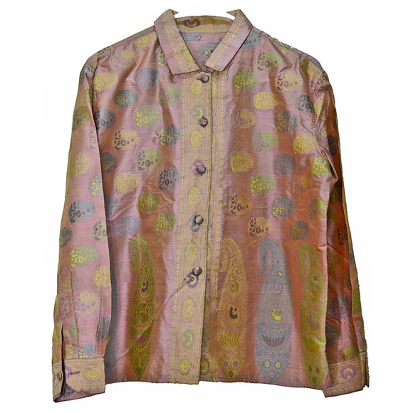 Gorgeous Virginia Witbeck Silk Sari Fabric Blouse - Gem de la Gem