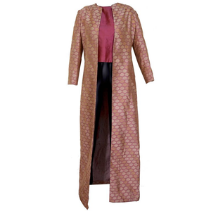 Glorious Virginia Witbeck Banaris Silk Coat with Coordinating Shell Top - Gem de la Gem
