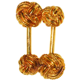 Classic Tiffany & Co. Love Knot Gold Cufflinks - Gem de la Gem