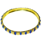 Classic Tiffany & Co. Gold and Blue Enamel Bangle Bracelet - Gem de la Gem