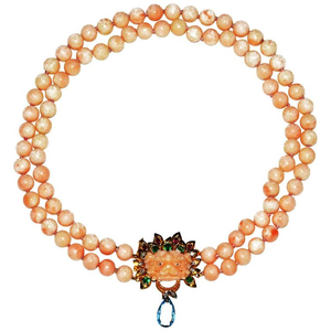 Amazing Coral Dragon Head Necklace - Gem de la Gem