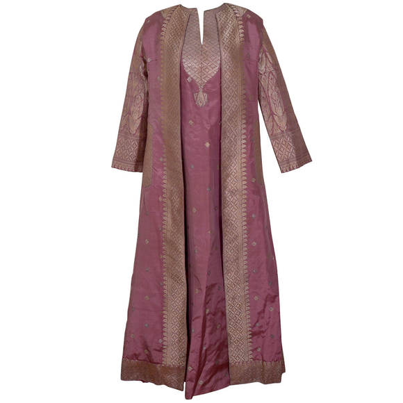 Magnificent Virginia Witbeck Couture Evening Caftan and Coat - Gem de la Gem