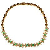 Classic VCA 18 Karat, Emerald and Diamond Necklace - Gem de la Gem