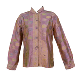 Magnificent Virginia Witbeck Silk Paisley Blouse - Gem de la Gem