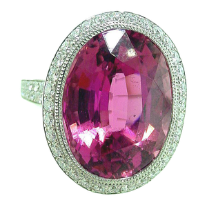 Tiffany & Co. France Tourmaline Diamond Platinum Ring - Gem de la Gem