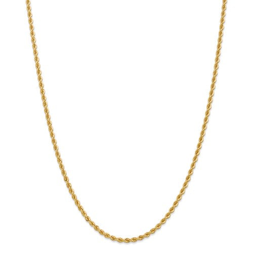 14K 2.75mm  Rope Chain 18""