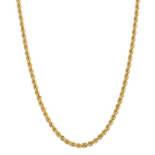 14k Yellow gold 5mm Rope Chain 18""