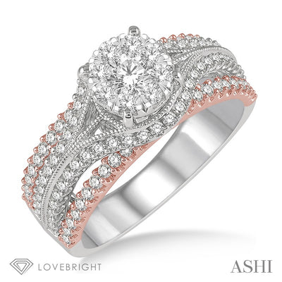 Round Diamond Lovebright Solitaire Style Engagement Ring