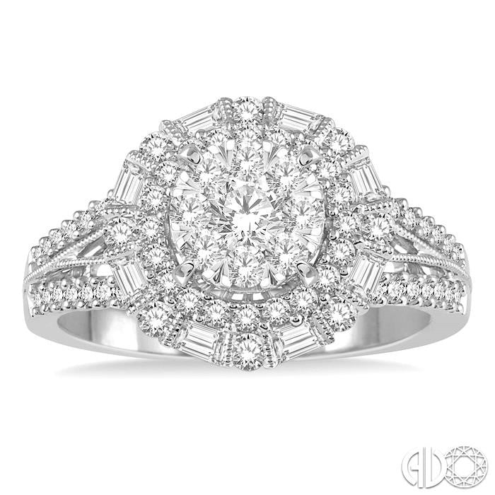 Lovebright Bridal Diamond Engagement Ring 1.10CTW