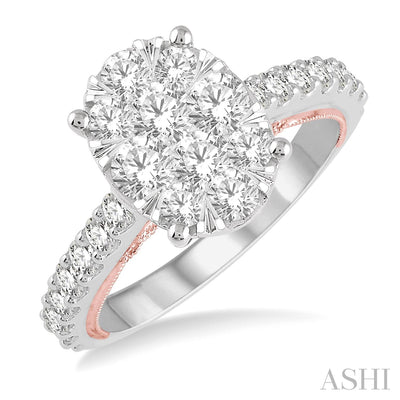 Oval Diamond Lovebright 1.10ctw Engagement Ring