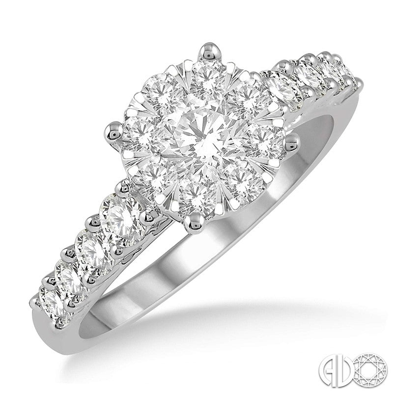 Round Diamond Lovebright Engagement Ring