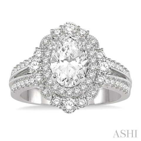 Oval Shape Engagement Ring