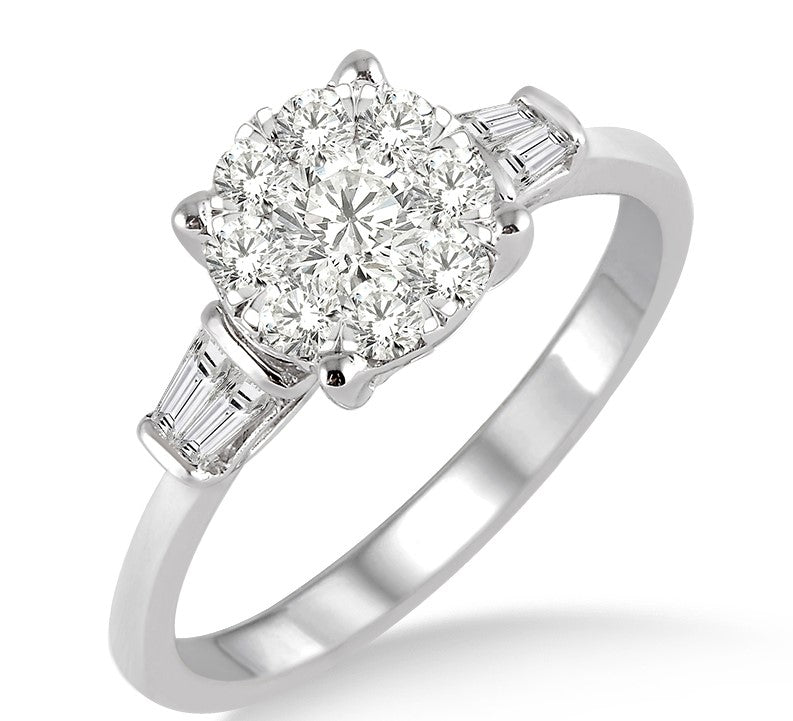 Lovebright Bridal Diamond Engagement Ring 3/4ctw